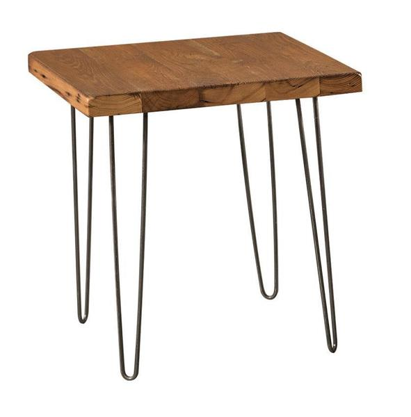 Urban Reclaimed End Table with Hairpin Legs