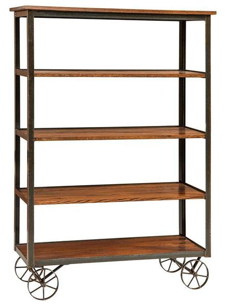 Modern Industrial Reclaimed Wood Bookcase
