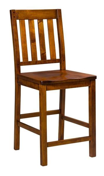 Amish Alberta Stationary Bar Stool