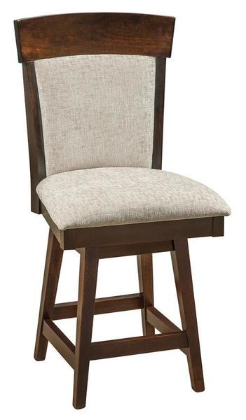 Amish Riverside Upholstered Swivel Bar Stool