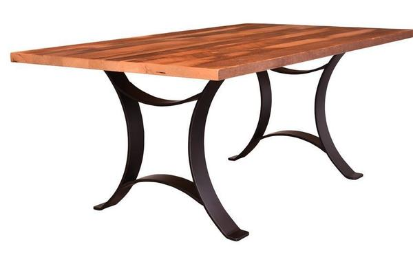 Reclaimed Wood Golden Gate Dining Table with Solid Top