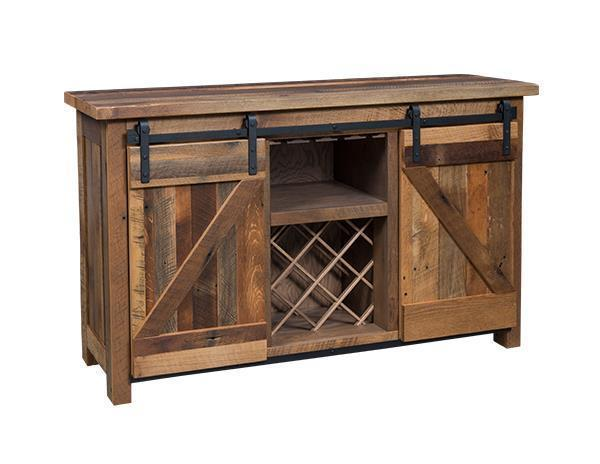 Ask Us A Question Sliding Barn Door Buffet