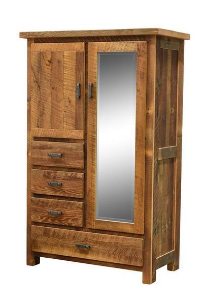 Reclaimed Wood Farmhouse Armoire