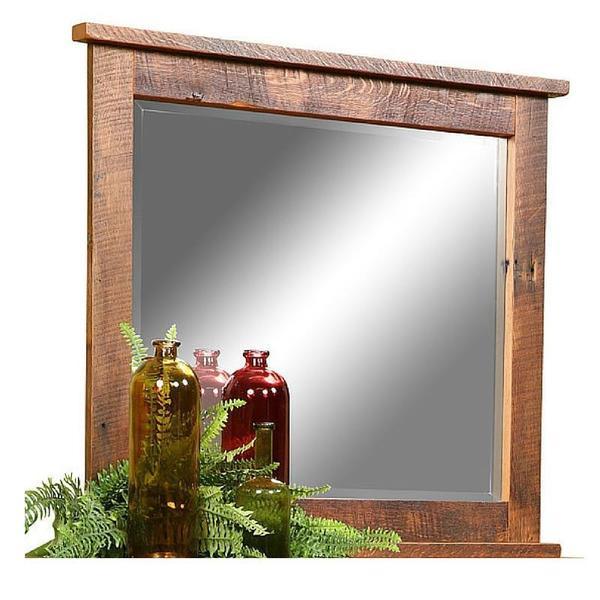 Reclaimed Wood Farmhouse Mirror