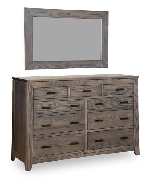 Amish Felipe 9-Drawer Dresser with Optional Mirror