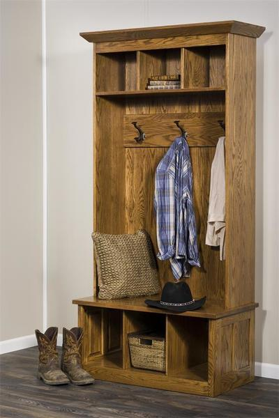 Find Many Great New Used Options And Get The Best Deals For Linon Home Decor Entryway 4 Hooks Coat Rack Hat Shoe Storage Seat Hall Tree Pine At