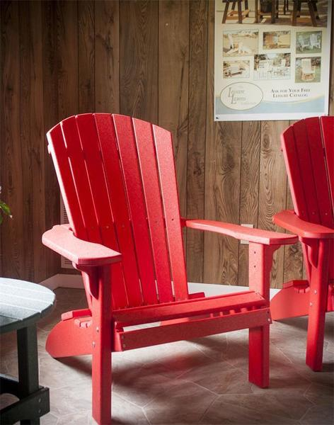 Amish Red Poly Adirondack Chair - Quick Ship