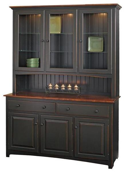 Pine 60 Quot Shaker Hutch From Dutchcrafters Amish Furniture