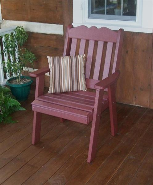Amish Poly Lumber English Garden Chair