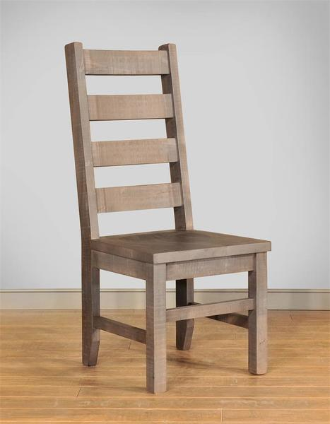 Ruff Sawn Wormy Sequoia Ladder Back Chair