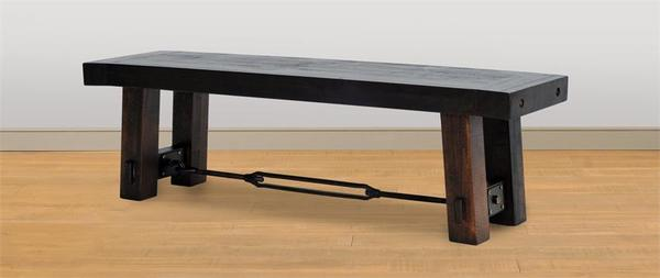 Amish Handcrafted Ruff Sawn Benchmark Bench