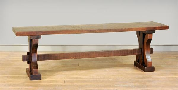 Rustic Ruff Sawn Wormy Maple Wood Carlisle Bench