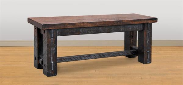 Ruff Sawn Wormy Maple Wood Timber Bench