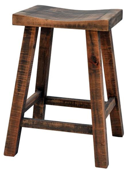 Ruff Sawn Muskoka Saddle Stool