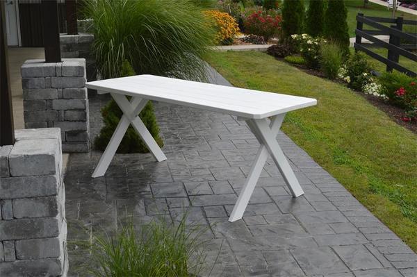 Amish Pine Wood Crossleg Outdoor Table