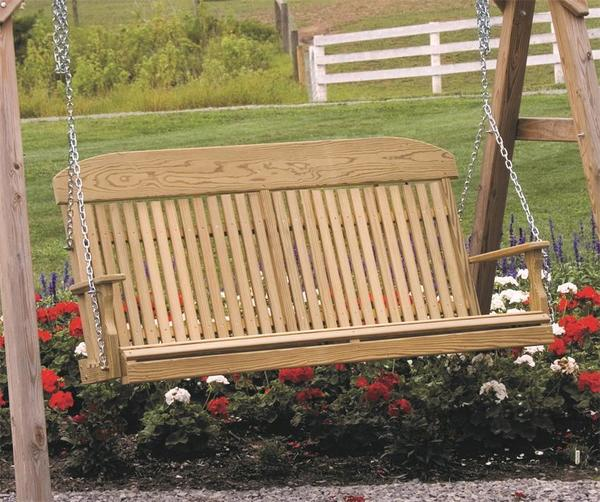 LuxCraft Classic Highback Porch Swing