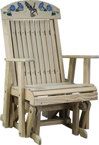 LuxCraft Hummingbird Garden Glider Chair