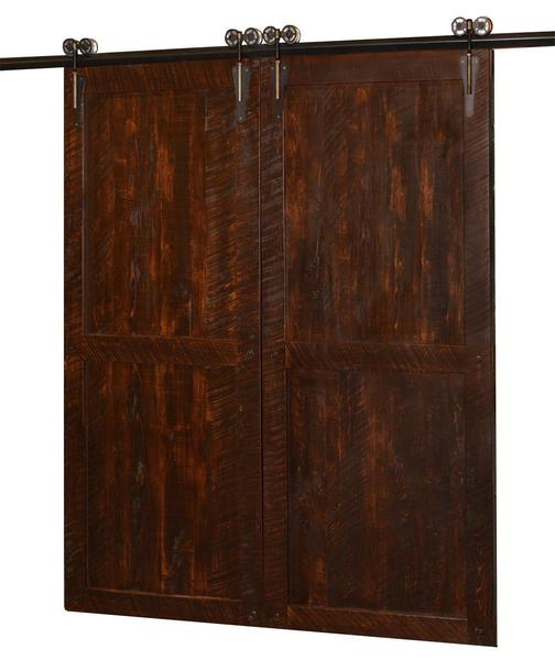 Double Timber Sliding Barn Door