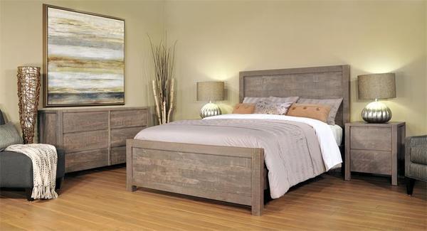 Ruff Sawn Twin Falls Four Piece Bedroom Set - Quick Ship