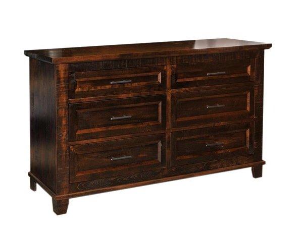 Ruff Sawn Rustic Coronado Six Drawer Dresser