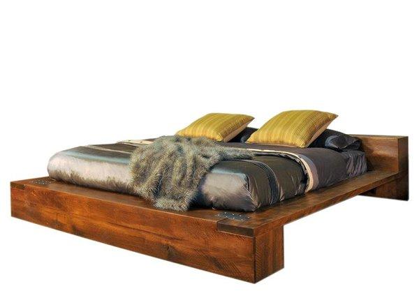 Ruff Sawn Azalea Platform Bed