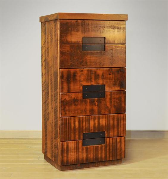 Ruff Sawn Azalea Six Drawer Chest
