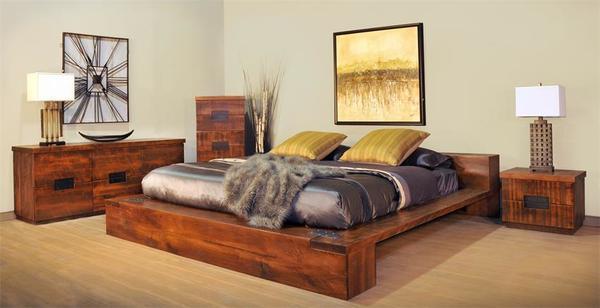 Ruff Sawn Azalea Four Piece Bedroom Set