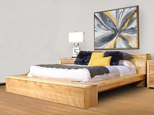 Ruff Sawn Hugo Platform Bed