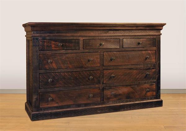 Ruff Sawn Quincey Nine Drawer Dresser