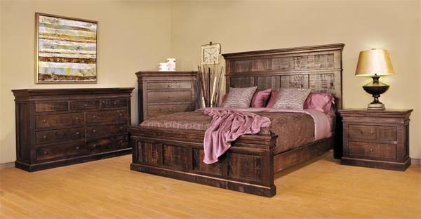 Ruff Sawn Quincey Four Piece Bedroom Set