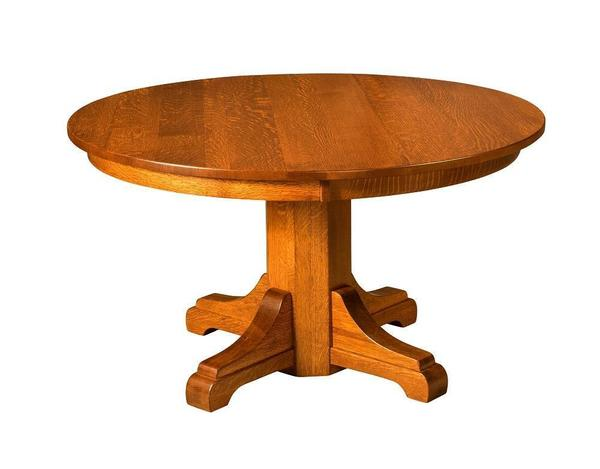 Amish Monteray Single Pedestal Extension Table