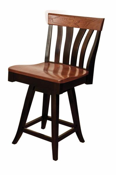 Amish Lennox Bar Stool with Swivel