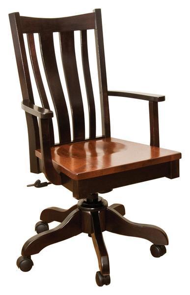 Amish Trenton Gas Lift Desk Chair