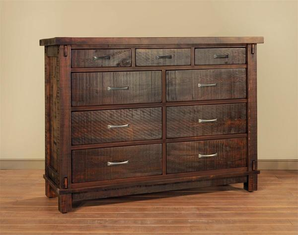 Ruff Sawn Timber Nine Drawer Mule Dresser
