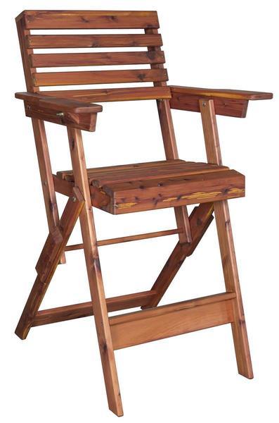 Amish Cedar Wood Outdoor Folding Bar Stool