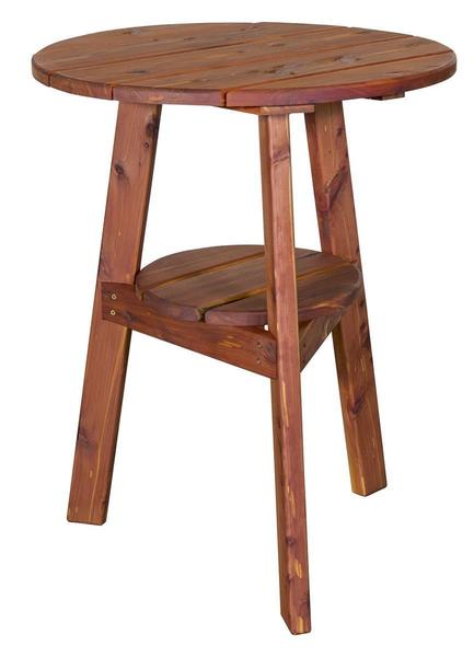 Amish Cedar Wood Outdoor Small Balcony Accent Table