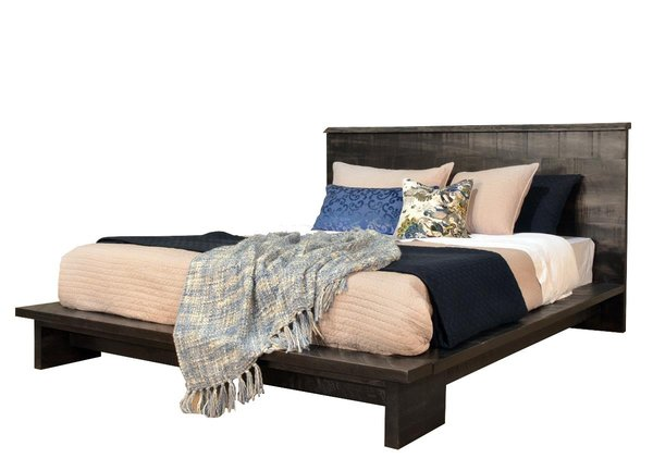 Ruff Sawn Haverford Platform Bed