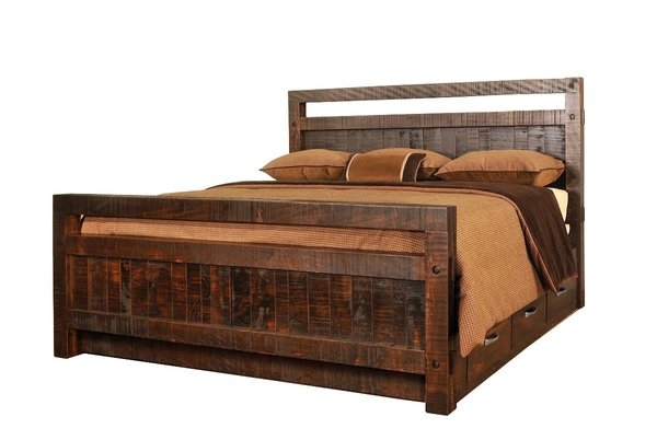 Ruff Sawn Timber Storage Bed