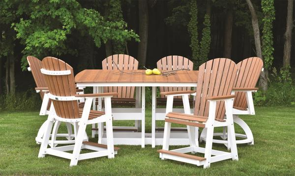 Berlin Gardens Naturals Poly Pub Dining Set From Dutchcrafters Amish