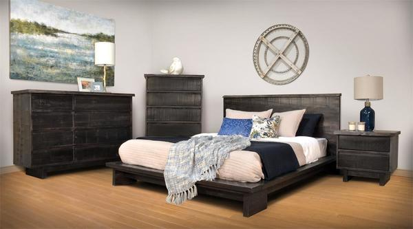 Ruff Sawn Haverford Four Piece Bedroom Set
