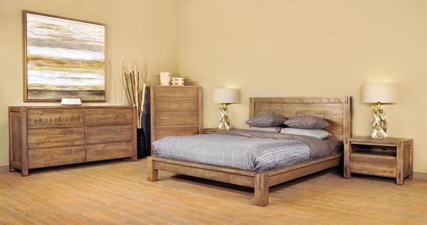 Ruff Sawn Lunada Five Piece Bedroom Set