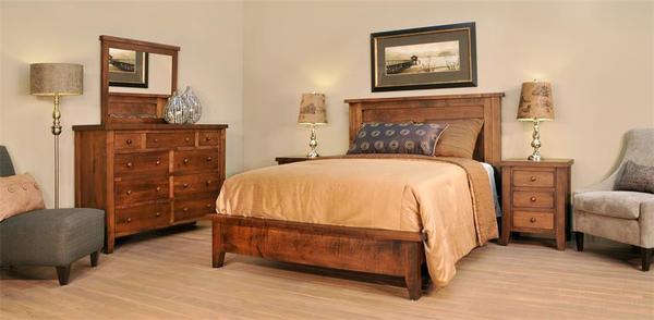 Ruff Sawn Farmhouse Shaker Three Piece Bedroom Set