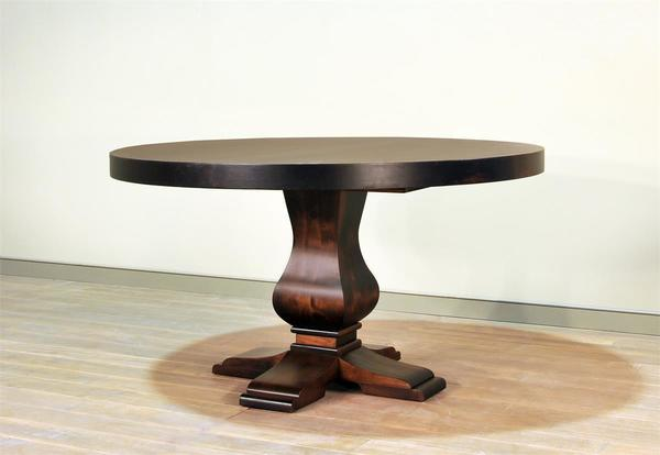 Ruff Sawn Granada Single Pedestal Dining Table