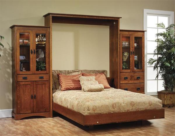 Solid Wood Mission Murphy Bed From Dutchcrafters Amish