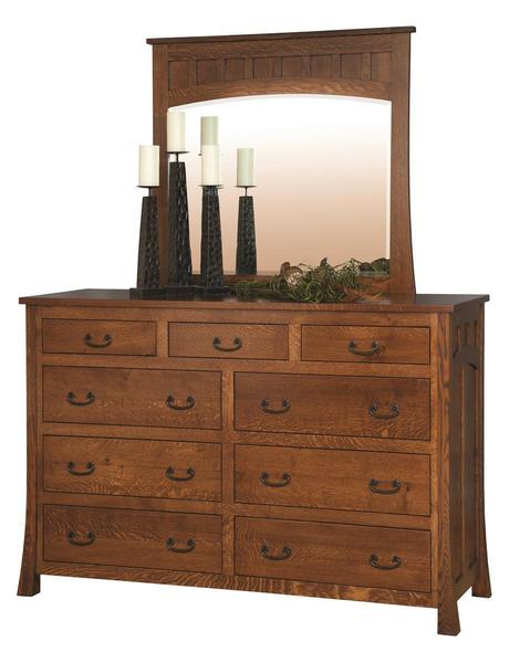 Amish Bridgeport Mission Dresser with Optional Mirror