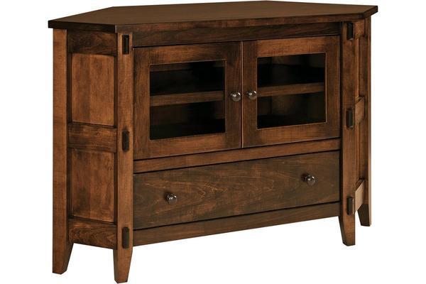 Amish Bungalow Corner TV Stand