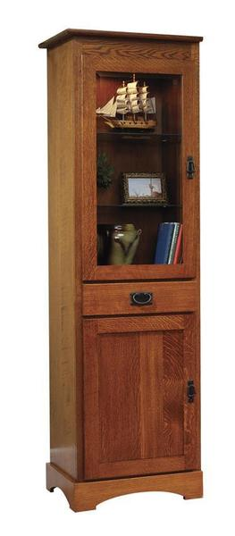 "Amish Old English Mission 23"" Bookcase with Doors"