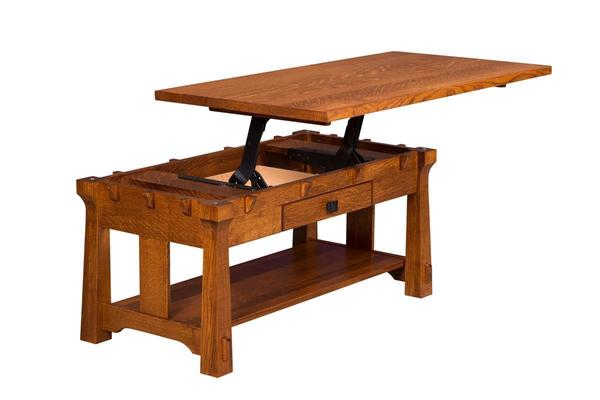 Amish Manitoba Coffee Table with Lift Top