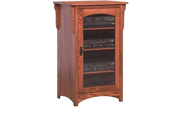 Amish Mission Stereo Cabinet