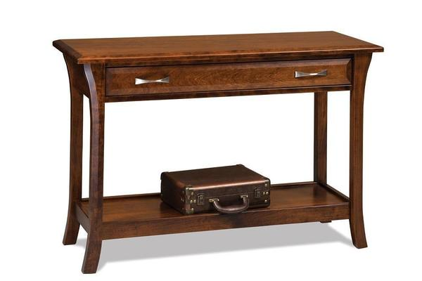 Amish Ensenada Sofa Table with Drawer
